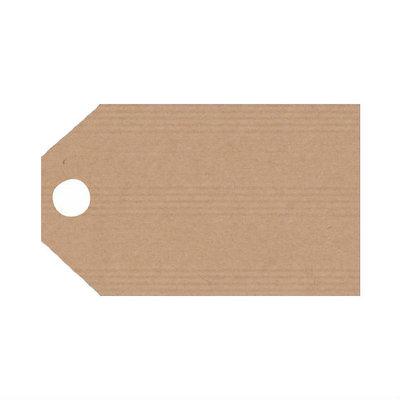 10 kraft label 5 x 9 cm