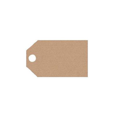 10 kraft label 2.5 x 5.5 cm