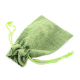 Jute zakje lime groen 7 x 9 cm_