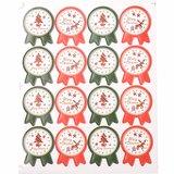 Kerst stickers 16 stuks op vel 1