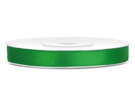 Groen satijn lint 6 mm breed