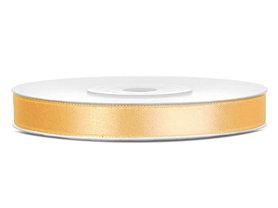 Goud satijn lint 6 mm breed