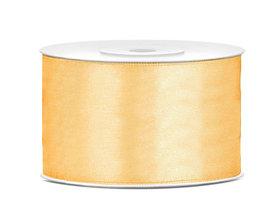 Goud satijn lint 38 mm breed