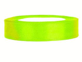 Neon geel satijn lint 2 cm breed