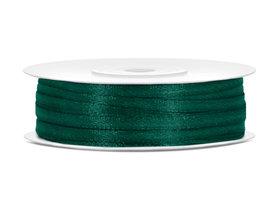 Donker groen satijn lint 3 mm