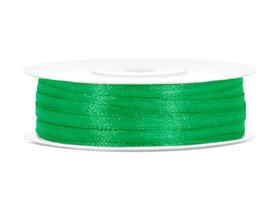 Flessen groen satijn lint 3 mm