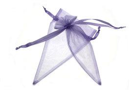 Organza zakje puntzakje Lavendel