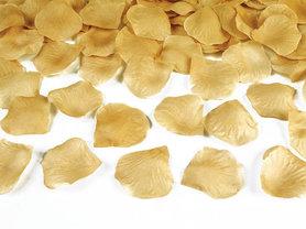 Rozenblaadjes goud metalic