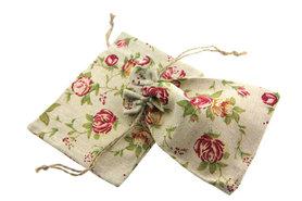 Katoenen zakjes roses