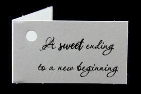 Kaartjes a sweet ending to a new beginning