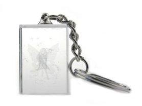 Sleutelhanger Plexi blok bescherm engeltje zittend