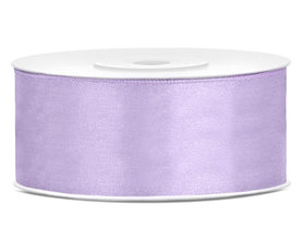 Lavendel satijn lint 25 mm breed