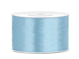 Licht blauw satijn lint 38 mm breed