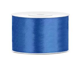 Blauw satijn lint 38 mm breed