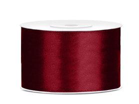 Bordeaux rood satijn lint 38 mm breed