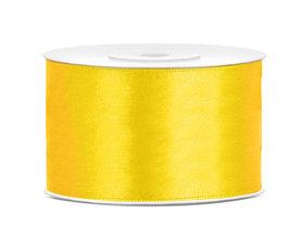 Geel satijn lint 38 mm breed