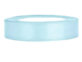 Licht blauw satijn lint 1 cm breed