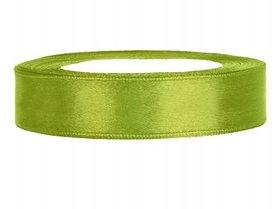 Lime groen satijn lint 1 cm breed