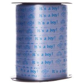 Krullint licht blauw it's a boy