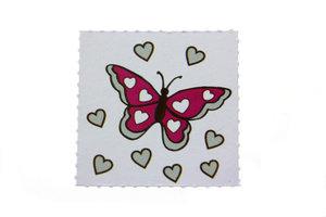 10 Labels vlinder Fuchsia
