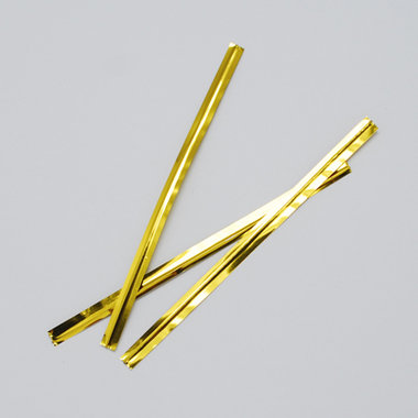 Sluitstrips goud 10 stuks
