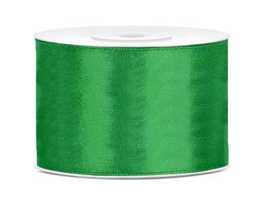 Groen satijn lint 5 cm breed