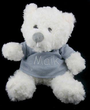 Geboorteknuffel beer wit 30 cm