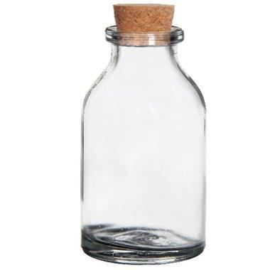 Glazen flesje met kurk 6 cm