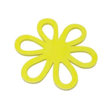 Houten bloem geel