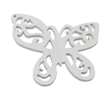Houten vlinder wit