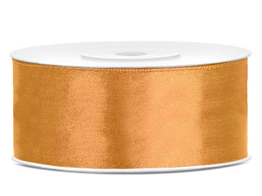 Goud satijn lint 25 mm breed