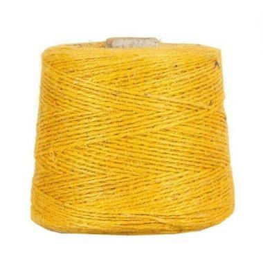 Hennep touw geel 3 mm dik 10 meter
