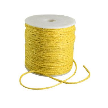 100 meter Hennep touw geel 2 mm dikte