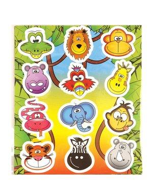 Traktatie stickers wilde dieren