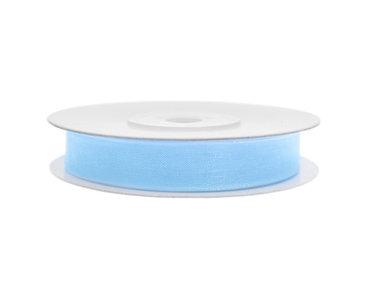 Organza lint 3 mm licht blauw