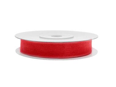 Organza lint 3 mm rood