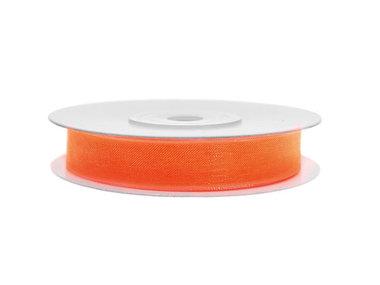Organza lint 3 mm oranje