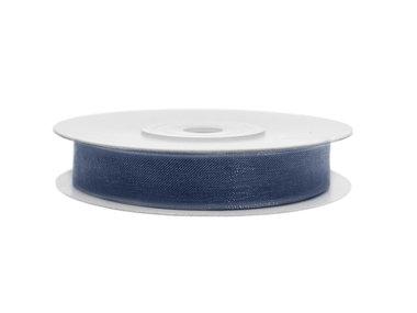 Organza lint 3 mm donker blauw