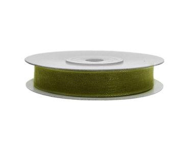 Organza lint 3 mm donker groen