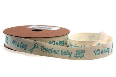Katoen lint it'a boy precious baby