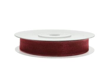 Organza lint 3 mm bordeaux rood