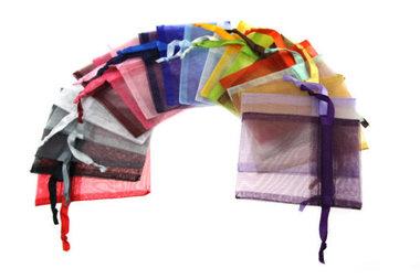 Kleurenpakket 15 stuks 7.5 x 10 cm organza zakjes