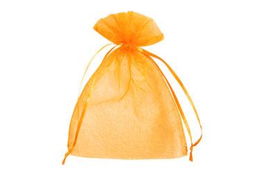 Organza zakje 7,5 x 10 cm Oranje