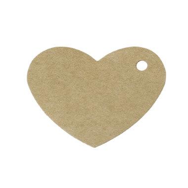 Kraft labels hart 10 stuks