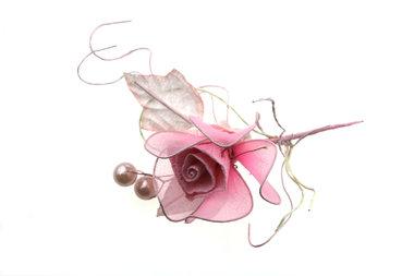 Luxe bloementoefje Roze