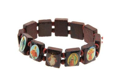 Armbandje heiligen bruin