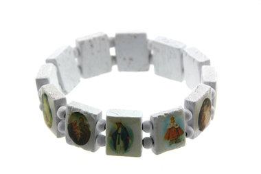 Armbandje heiligen wit
