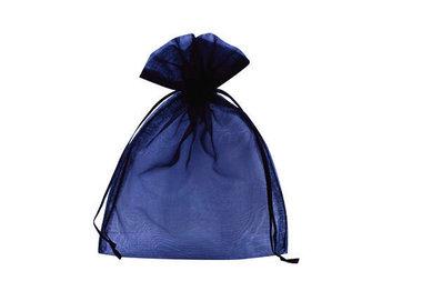 Organza zakje 7,5 x 10 cm Donker blauw