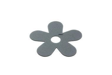 10 Zilveren bloem plastic