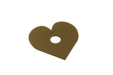10 goud hartje plastic